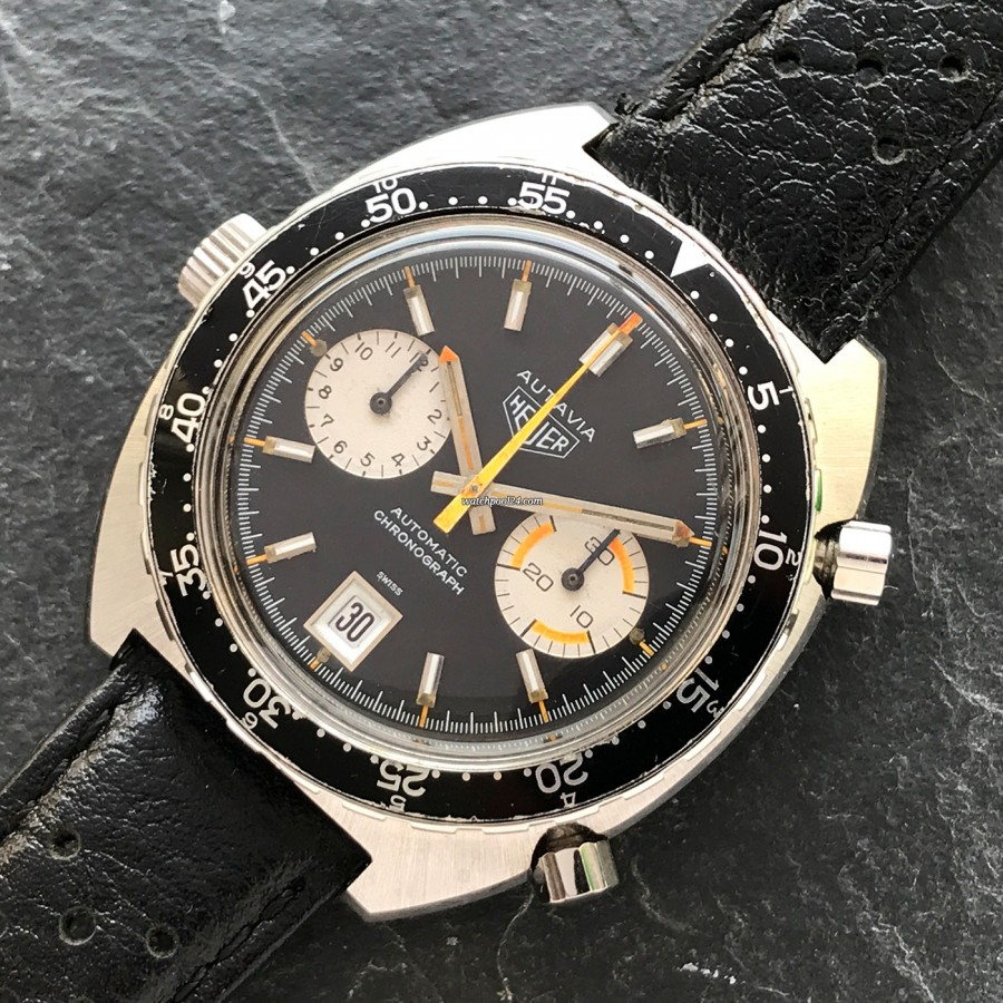 Heuer Autavia 1163 Orange Boy - racing chronograph from 1971