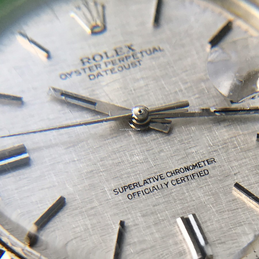 Rolex Datejust 1601 Linen No Lume Punched Papers - Linen dial