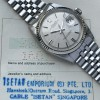 Rolex Datejust 1601 Linen No Lume Punched Papers - white gold bezel