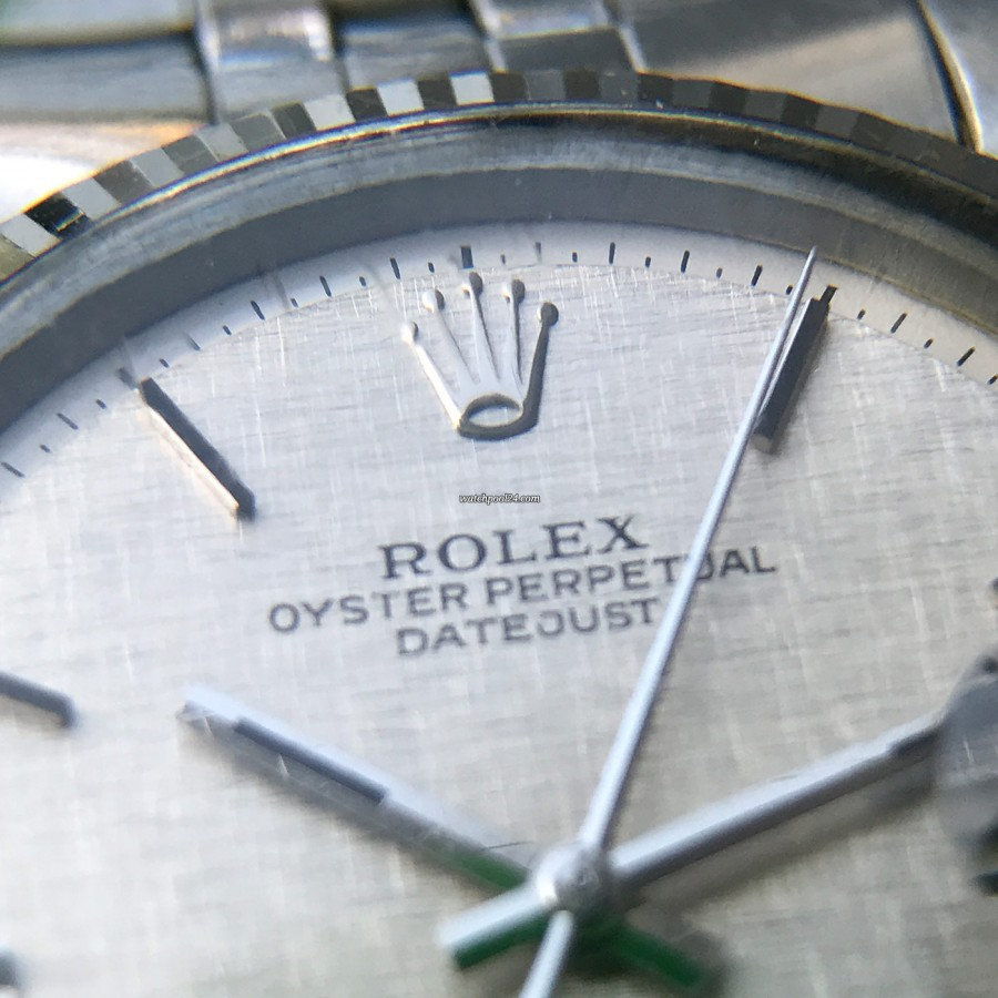 Rolex Datejust 1601 Linen No Lume Punched Papers - no-lume dial