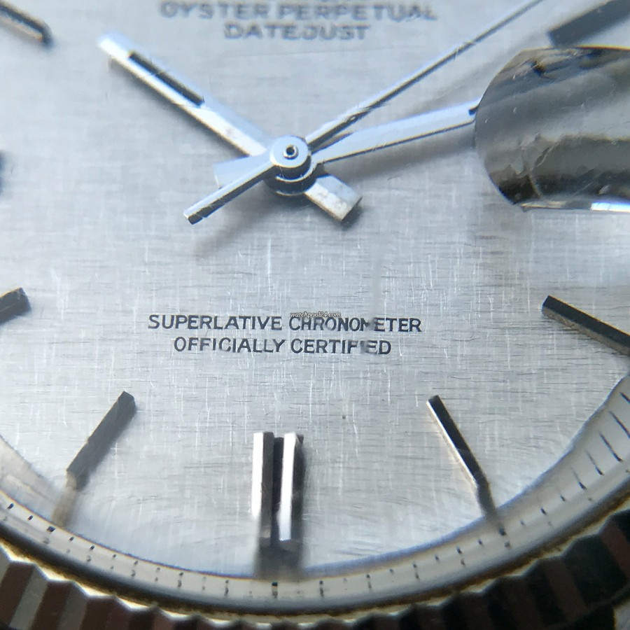 Rolex Datejust 1601 Linen No Lume Punched Papers - Superlative Chronometer Officially Certified