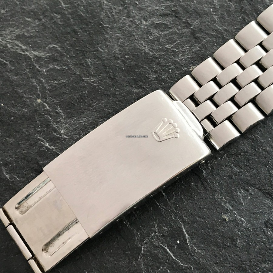 Rolex Datejust 1601 Linen No Lume Punched Papers - signed clasp