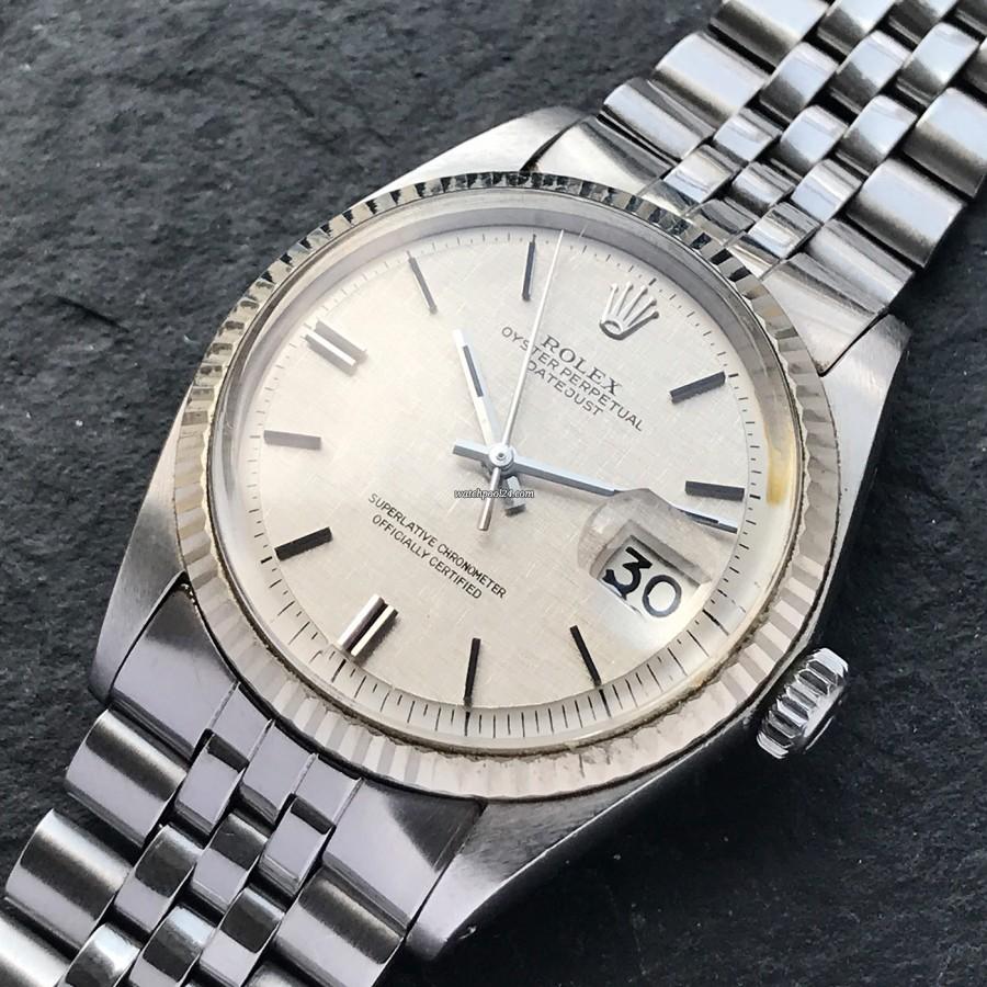 Rolex Datejust 1601 Linen No Lume Punched Papers - eine Rolex Datejust 1601 mit seltener Konfiguration