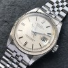 Rolex Datejust 1601 Linen No Lume Punched Papers - a Rolex Datejust 1601 with a rare configuration