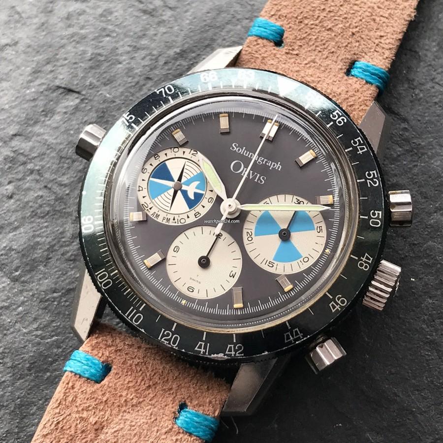 Heuer Orvis Solunagraph 2446SF - komplizierter Chronograph mit einigen besonderen Merkmalen und coolem sportlichen Look