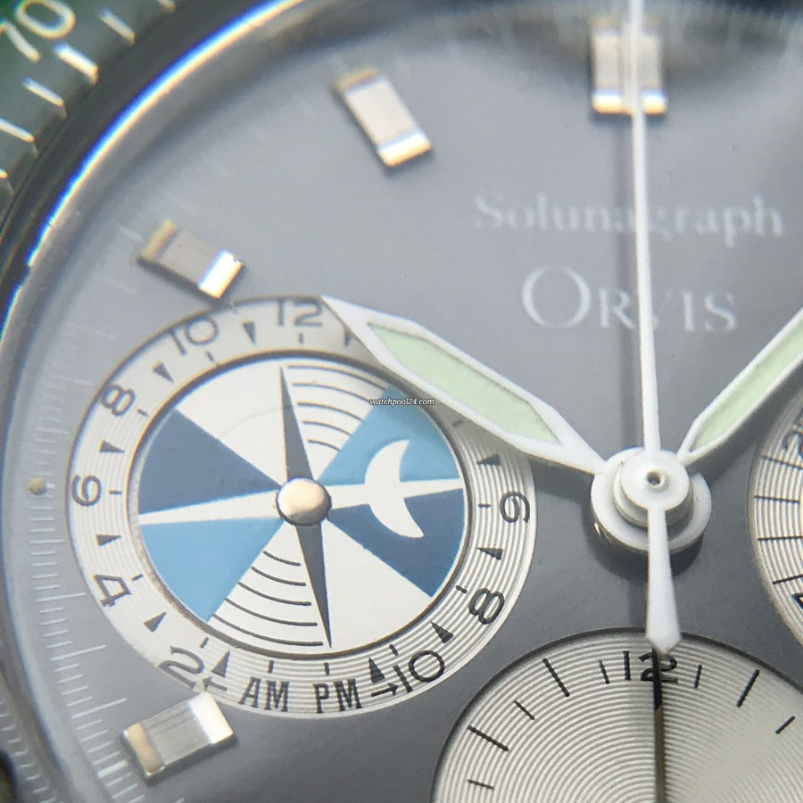 Heuer Orvis Solunagraph 2446SF - tide indication sub dial