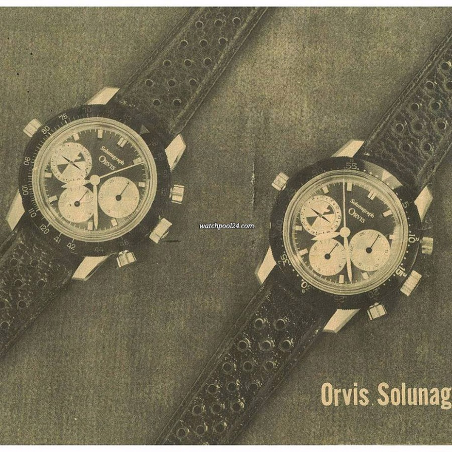 Heuer Orvis Solunagraph 2446SF - different bezel in the original Orvis catalog