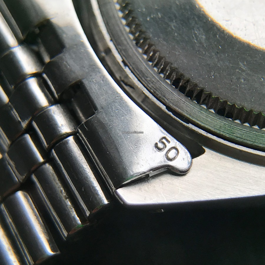 Rolex Datejust 1603 Wide Boy - end links reference 50
