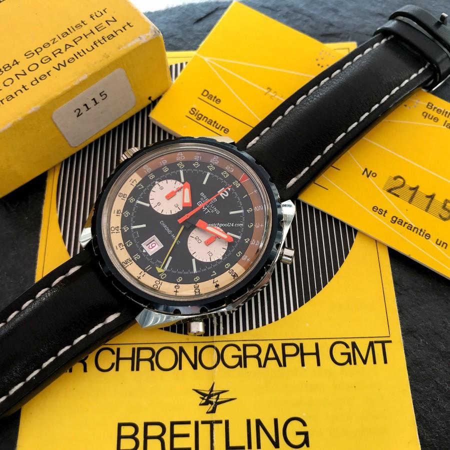 Breitling Chronomatic 2115 GMT - Box und Papiere - eine hervorragende Sammleruhr