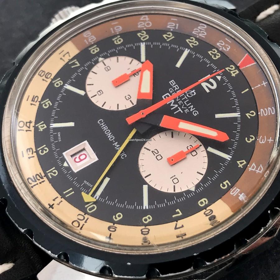 Breitling Chronomatic 2115 GMT - Box und Papiere - farbenfrohes Zifferblatt