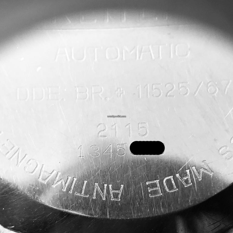 Breitling Chronomatic 2115 GMT - Box und Papiere - signierter Gehäuseboden