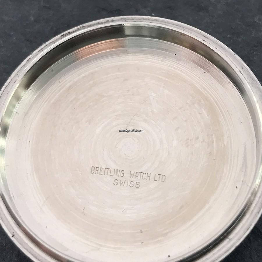 Breitling Chronomatic 2115 GMT - Box und Papiere - Innen-Gravierung des Gehäusedeckels