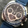 Yema Flygraf Chronograph - blue-silver rule bezel