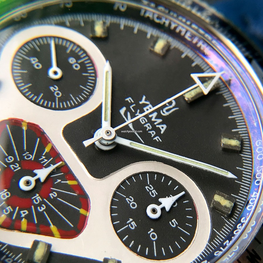 Yema Flygraf Chronograph - colorful dial in excellent condition