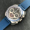 Yema Flygraf Chronograph - Stainless steel case has an attractive shape