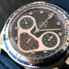 Yema Flygraf Chronograph - beautiful white hand set