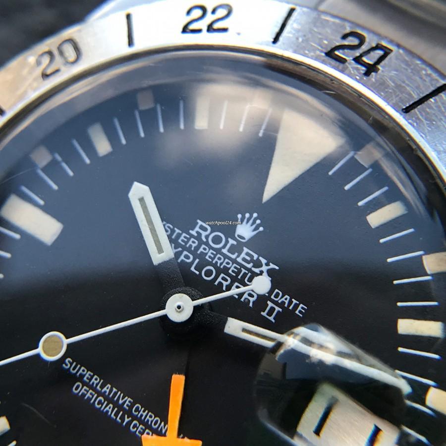 Rolex Explorer II 1655 Orange Hand Freccione - matt black dial