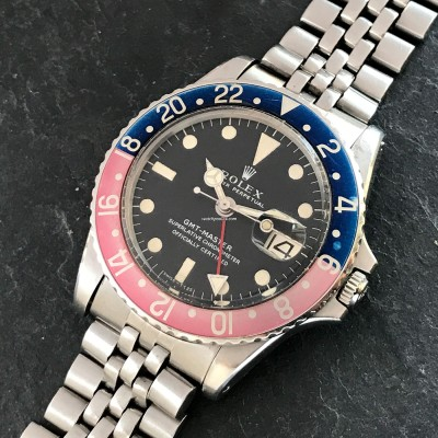 Rolex GMT Master 1675 Pink Lady Papers