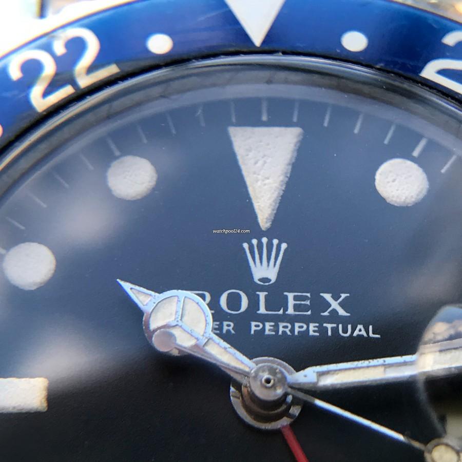 Rolex GMT Master 1675 Pink Lady Papers - mattschwarzes Zifferblatt und Long E