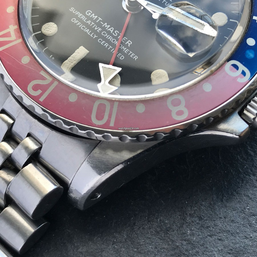 Rolex GMT Master 1675 Pink Lady Papers - unpolished case