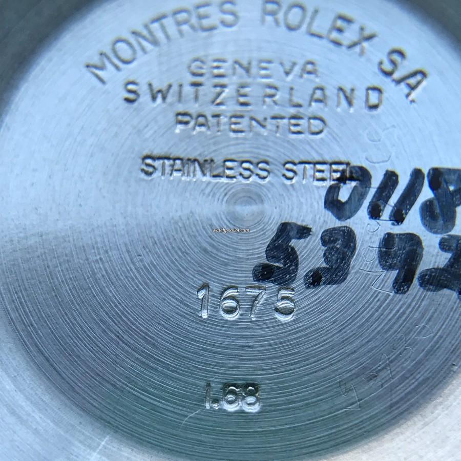 Rolex GMT Master 1675 Pink Lady Papers - Gehäusedeckel, 1. Quartal 1968