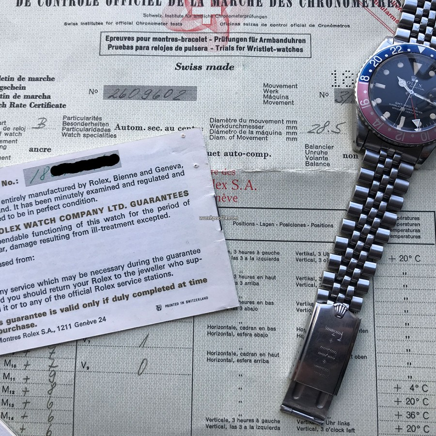 Rolex GMT Master 1675 Pink Lady Papers - Great watch to admire, even better to own