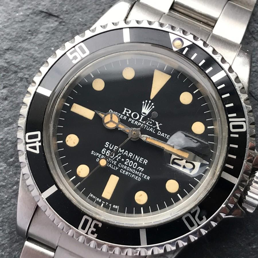 Rolex Submariner 1680 - rotating bezel with intact pearl at 12 o'clock