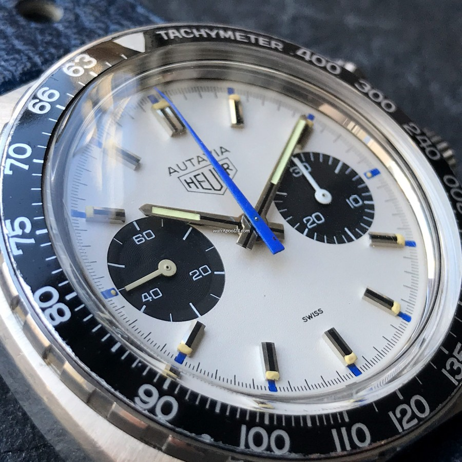 Heuer Autavia 73363 Siffert Color - Panda-Zifferblatt