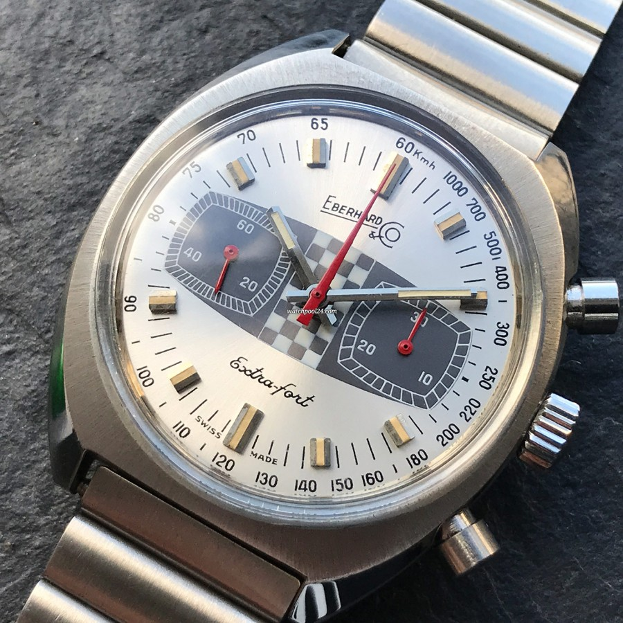 Eberhard Extra-Fort 31006 Hang Tag - ein attraktiver Vintage-Racing-Chronograph