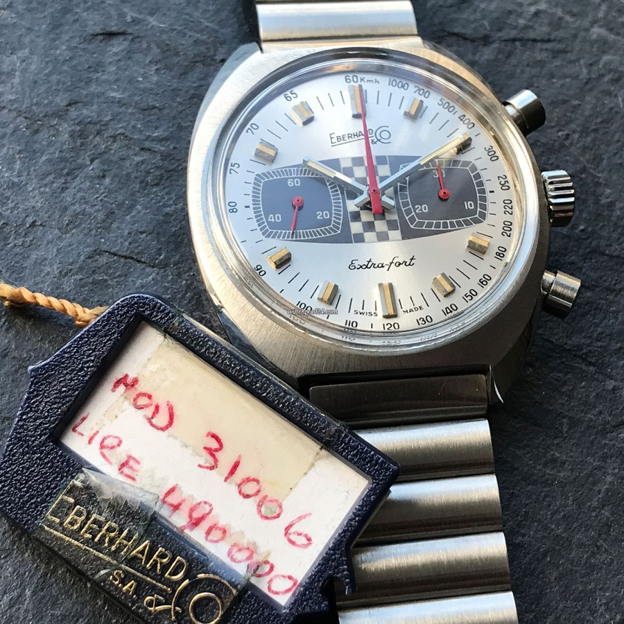 Eberhard Extra-Fort 31006 Hang Tag - reference number and selling price on the Eberhard hang tag