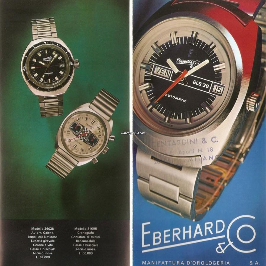 Eberhard Extra-Fort 31006 Hang Tag - Auszug aus einem Katalog von 1971 eines italienischen Fachhändlers
