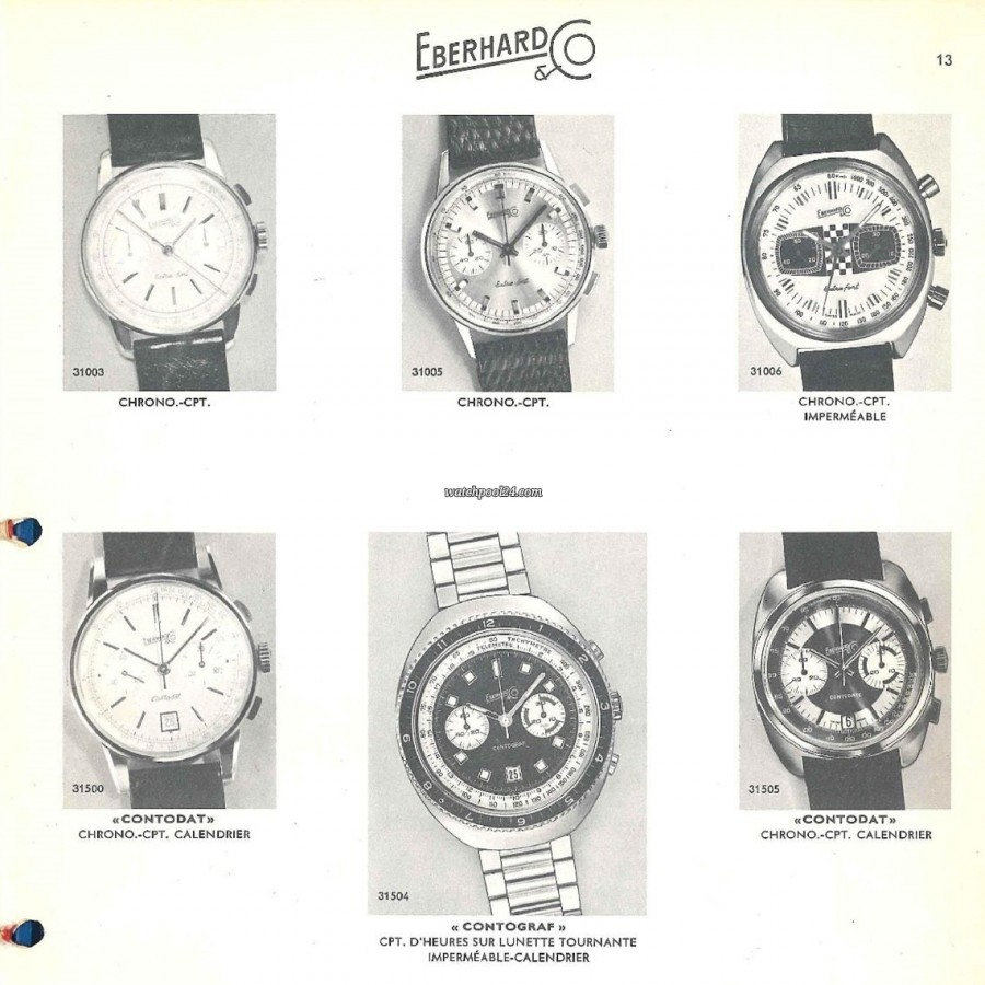 Eberhard Extra-Fort 31006 Hang Tag - Eberhard catalog from the early 1970s