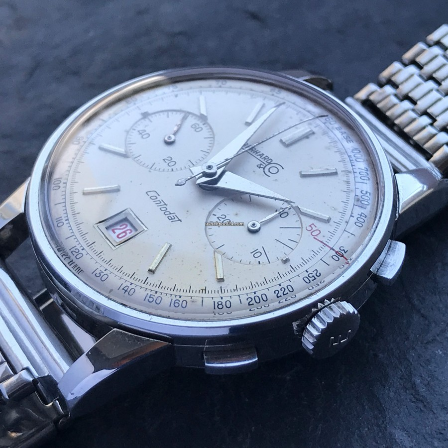 Eberhard Contodat 14900 - fine preserved stainless steel case