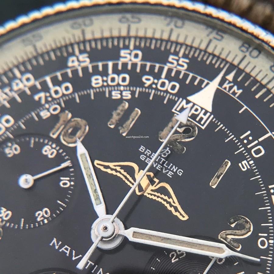 Breitling Navitimer 806 All Black - wunderschöne Patina in den Stunden-Zahlen