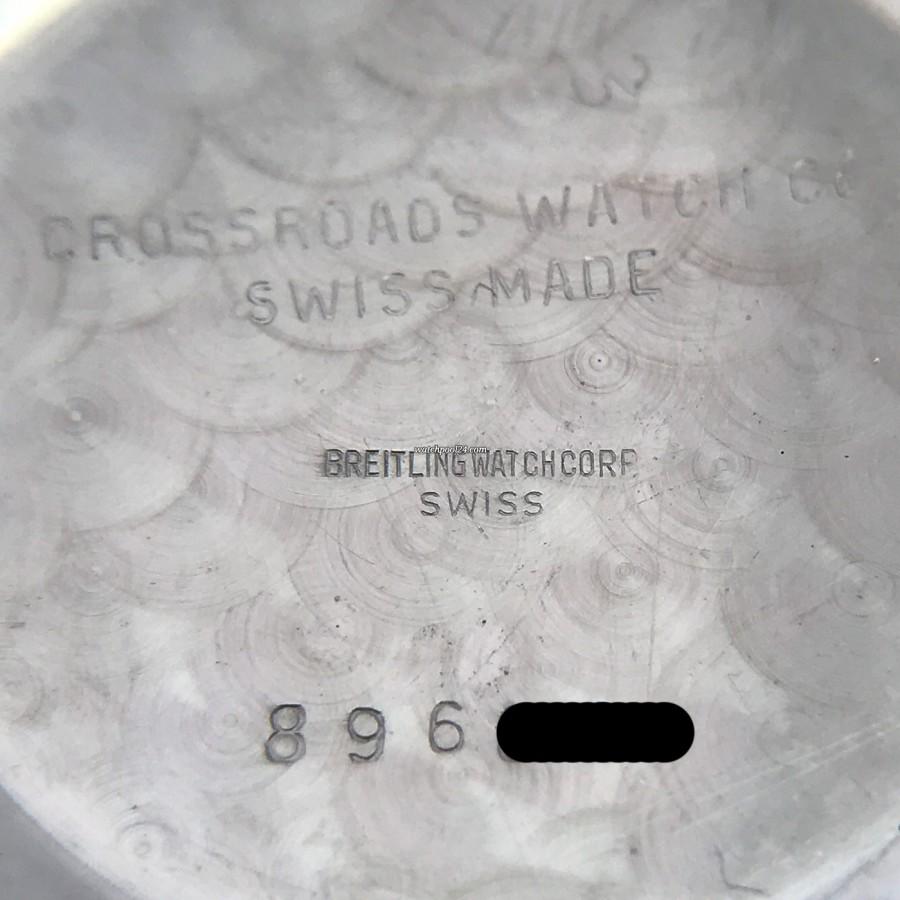 Breitling Navitimer 806 All Black - Gehäusedeckel signiert mit der Seriennummer und 'Crossroads Watch Co.'