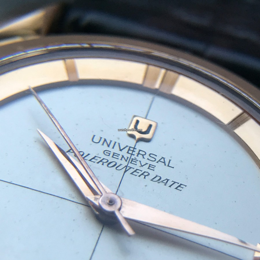 Universal Genève Polerouter Date 104503-2 Rotgold