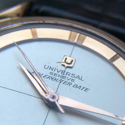 Universal Genève Polerouter Date 104503-2 Rose Gold