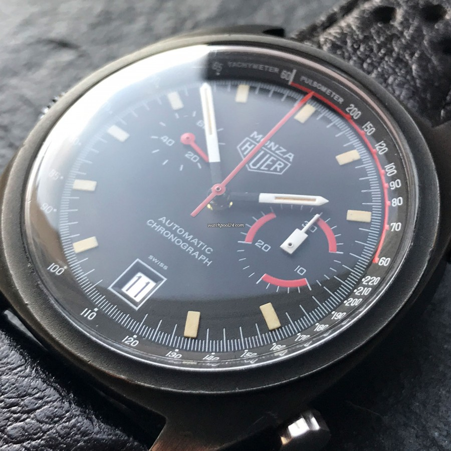 Heuer Monza 150.501 PVD - beautiful red-black color combination