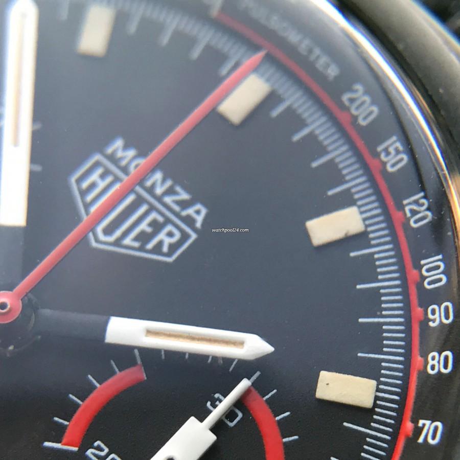Heuer Monza 150.501 PVD - perfekte Leuchtmasse in den Stundenmarkern und Zeigern