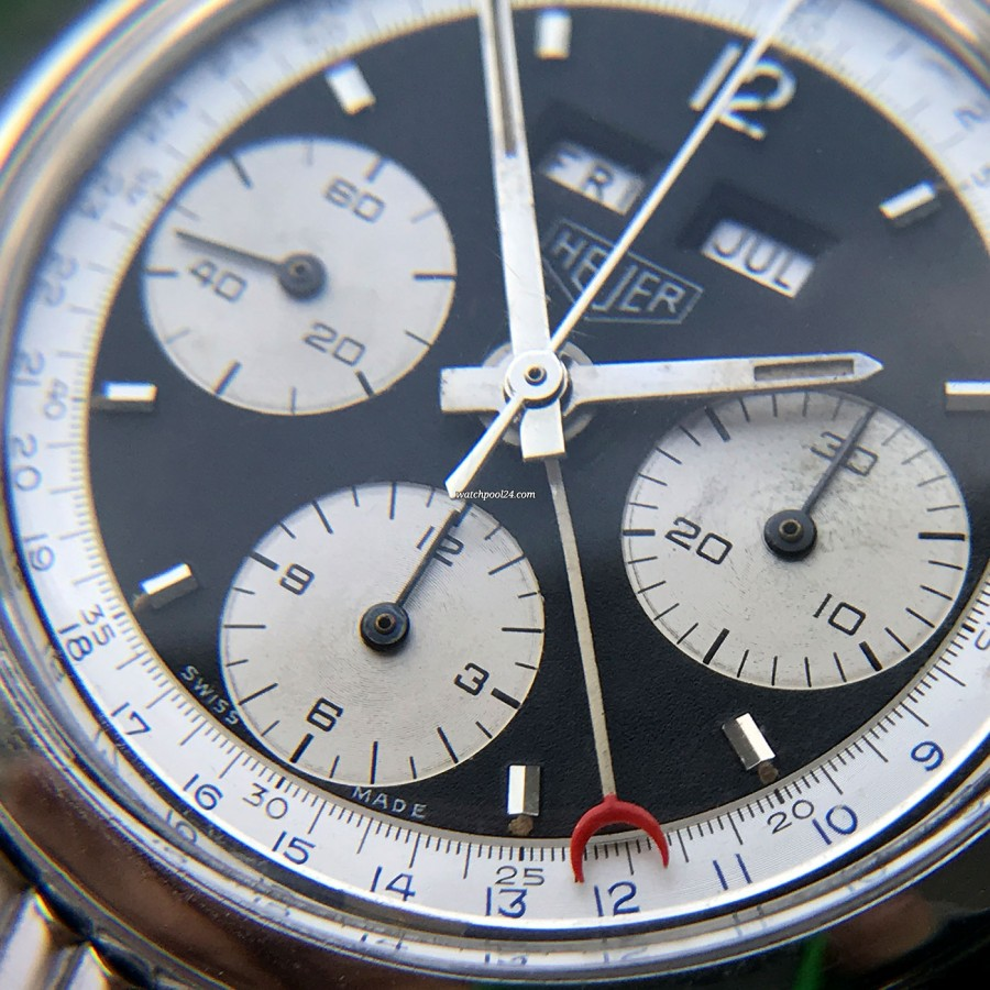 Heuer Carrera 2547 N Full History Documentation - natural aging in the sub dials