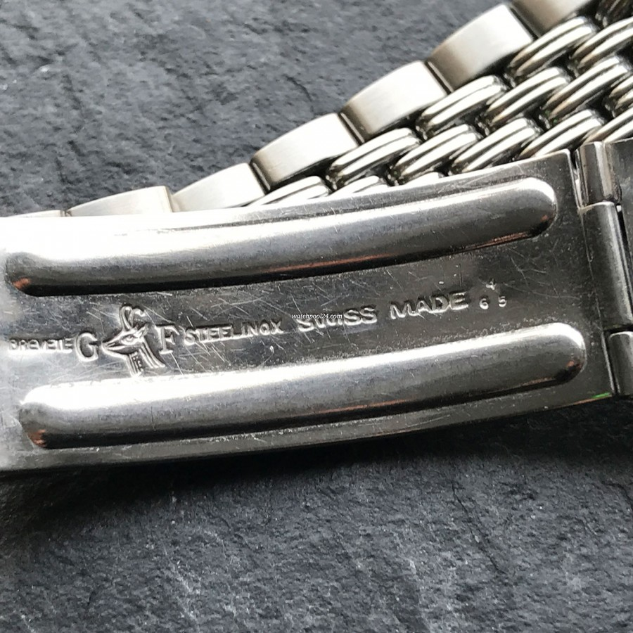 Heuer Carrera 2547 N Full History Documentation - Gay Frères bracelet and clasp, stamped 4/65