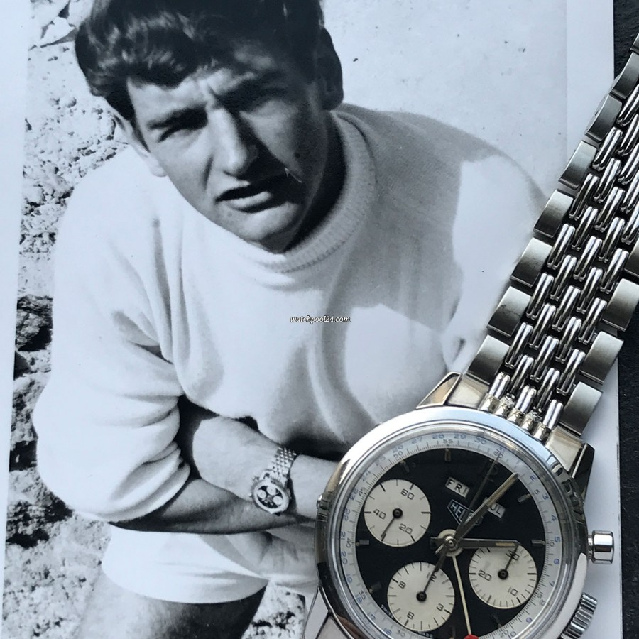 Heuer Carrera 2547 N Full History Documentation - a photo shows the Carrera on the wrist of the British soldier