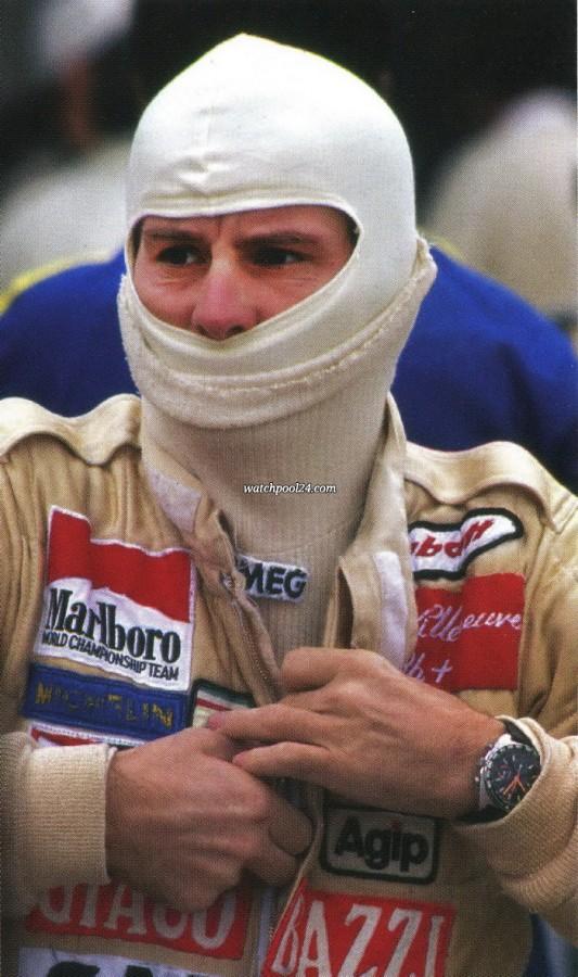 Heuer Autavia 73663 Villeneuve - Gilles Villeneuve wearing his Heuer Autavia 73663