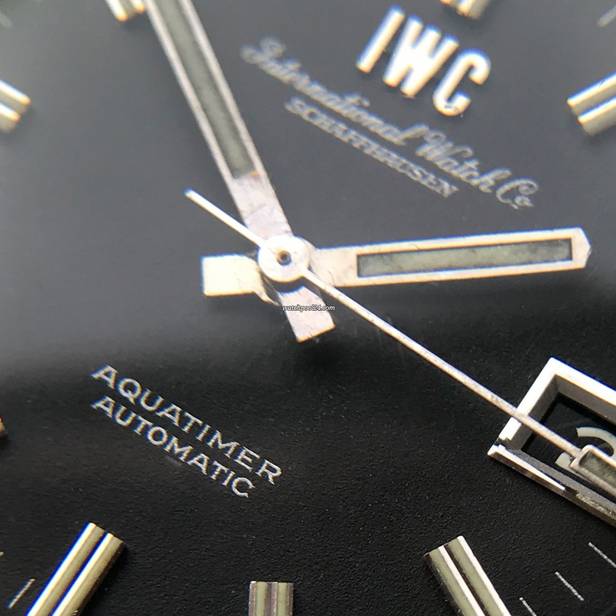 IWC Aquatimer 812 AD - the matt black surface has been perfectly preserved