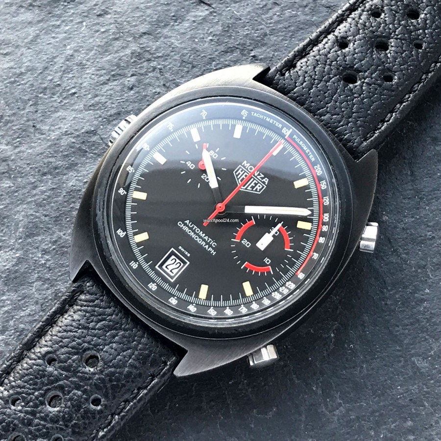 Heuer Monza 150.511 Black PVD - this watch represents racing, masculinity and aesthetics