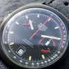 Heuer Monza 150.501 Black PVD - black dial surface in perfect condition