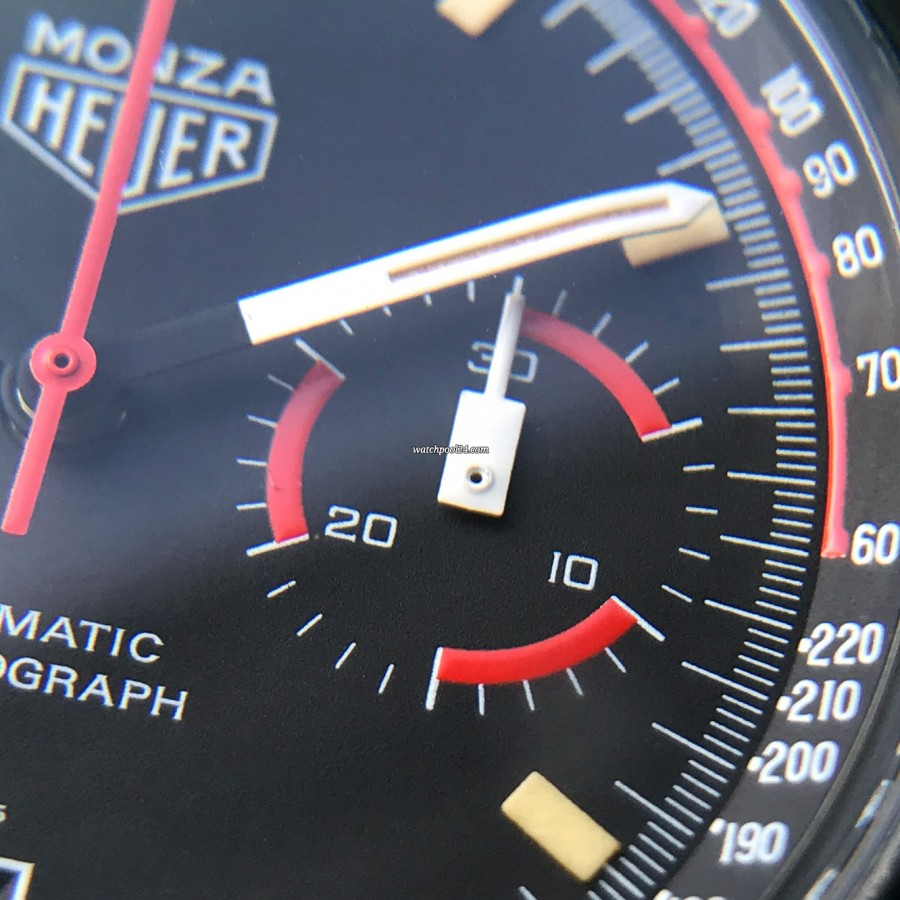 Heuer Monza 150.501 Black PVD - 30 minutes counter of the chronograph
