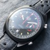 Heuer Monza 150.501 Black PVD - black and red color combination looks sporty and cool