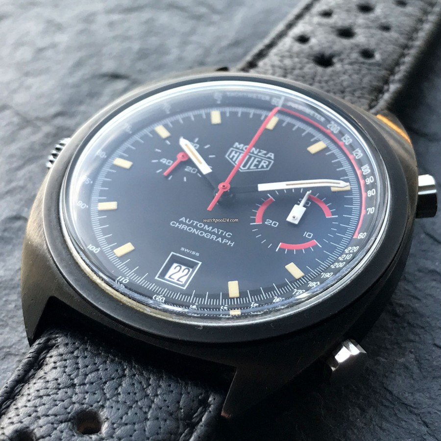 Heuer Monza 150.501 Black PVD - black coated case (PVD)
