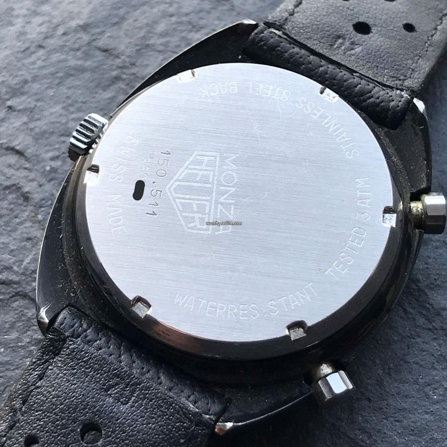 Heuer Monza 150.501 Black PVD - screw-down case back